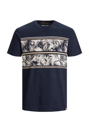 T-shirt Sunnys met printopdruk donkerblauw