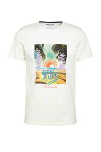 JACK & JONES ORIGINALS T-shirt Trailer met printopdruk wit, Wit