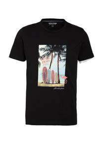 JACK & JONES ORIGINALS T-shirt Trailer met printopdruk zwart, Zwart