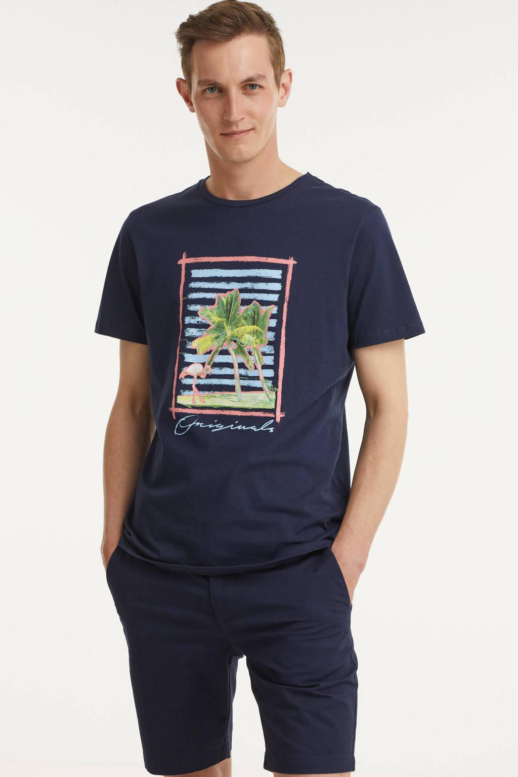 JACK & JONES ORIGINALS T-shirt Trailer met printopdruk donkerblauw, Donkerblauw