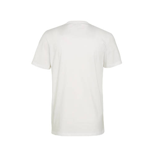 JACK & JONES T-shirt met logo wit/blauw/oranje