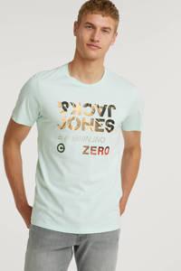 JACK & JONES T-shirt met logo mintgroen, Mintgroen