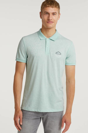 gemêleerde regular fit polo Delight turquoise