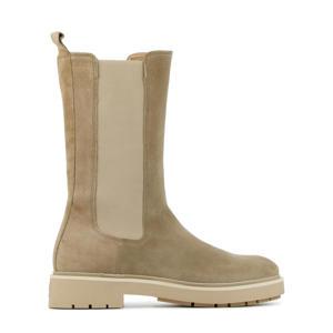5510069 hoge suède chelsea boots beige