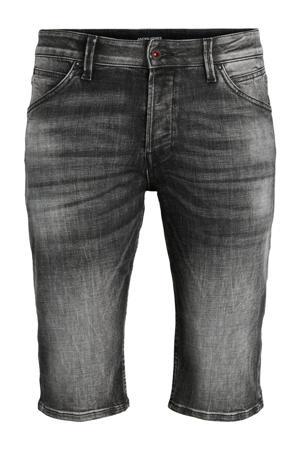 slim fit jeans short black denim