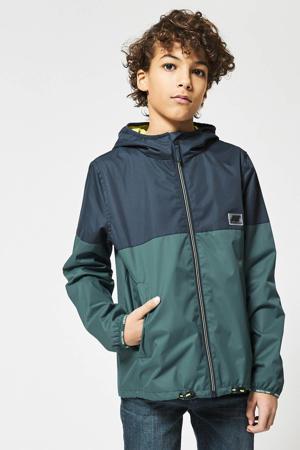 zomerjas Jagger donkerblauw/groen