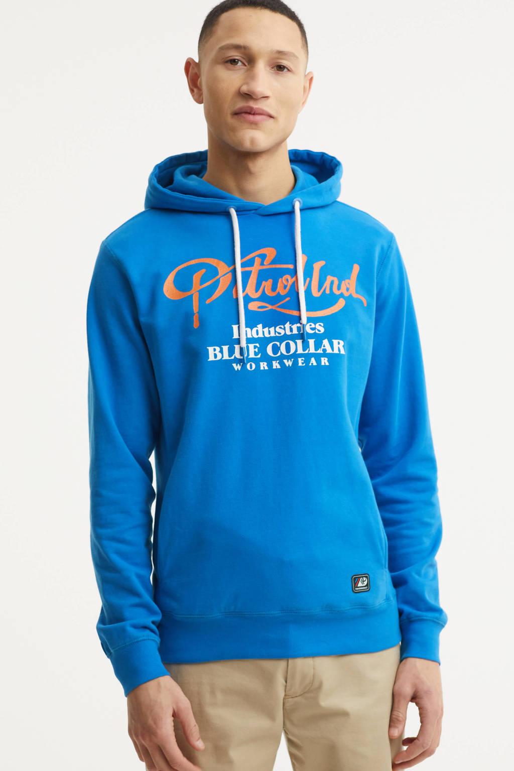 Petrol Industries hoodie met logo blauw, Blauw