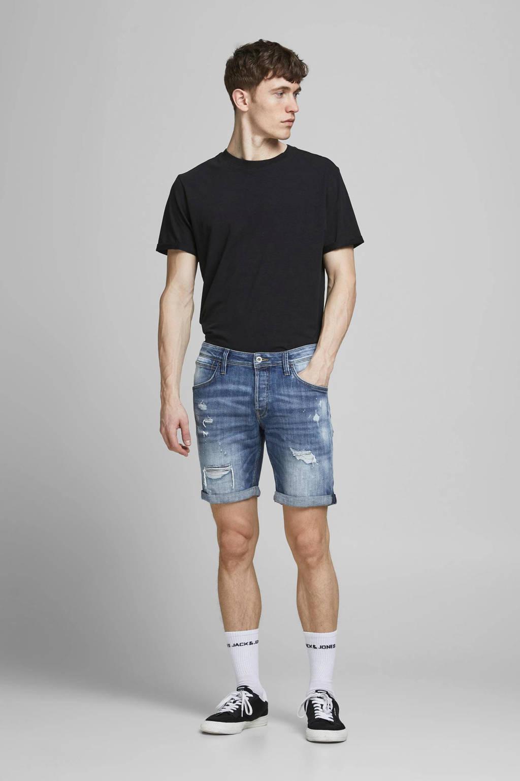 JACK & JONES JEANS INTELLIGENCE regular fit jeans short Rick Fox stonewashed, Stonewashed