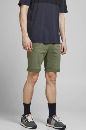 slim fit jeans short Rick olijfgroen