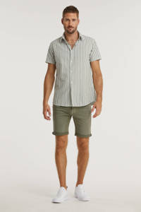 JACK & JONES JEANS INTELLIGENCE slim fit jeans short Rick olijfgroen, Olijfgroen