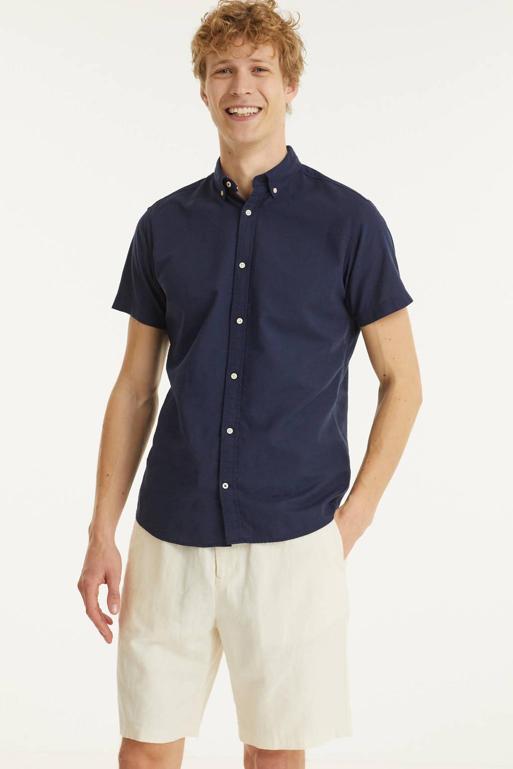PRODUKT regular fit overhemd Clark donkerblauw, Donkerblauw
