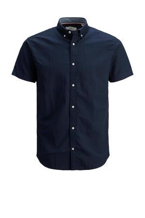 regular fit overhemd Clark donkerblauw