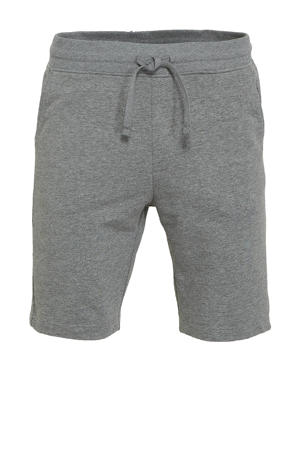 regular fit sweatshort Elmer grijs melange