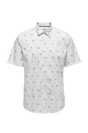 regular fit overhemd Bart met biologisch katoen wit