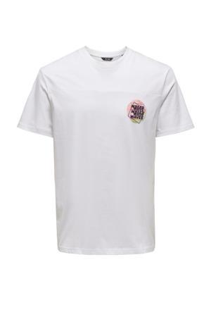 T-shirt Atik Life van biologisch katoen wit