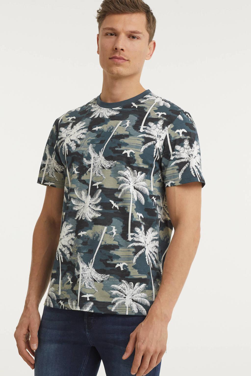 ONLY & SONS T-shirt Kante van biologisch katoen donkerblauw, Donkerblauw