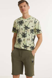 ONLY & SONS T-shirt Kante van biologisch katoen groen/grijs, Groen/grijs