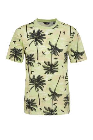 T-shirt Kante van biologisch katoen groen/grijs