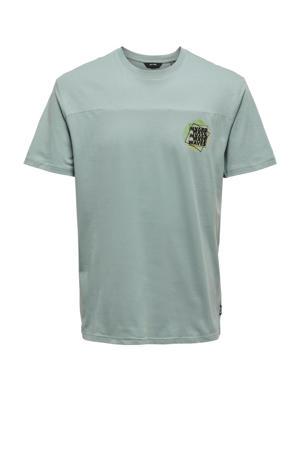 T-shirt Atik Life van biologisch katoen grijsblauw