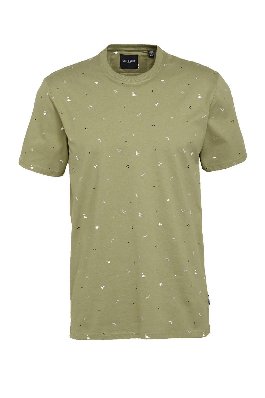 ONLY & SONS T-shirt Paxon van biologisch katoen groen, Groen