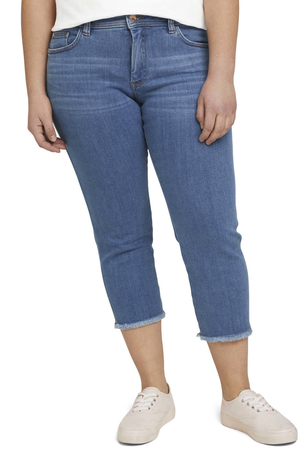 Tom Tailor My True Me cropped slim fit jeans blauw, Blauw
