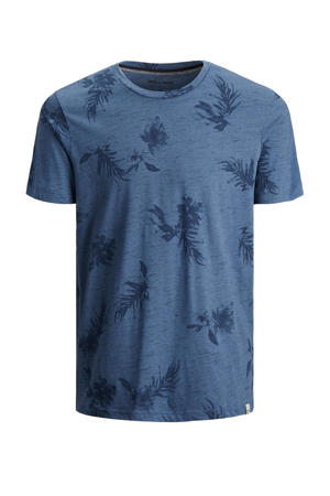 T-shirt Cali Plus Size met all over print ensign blue