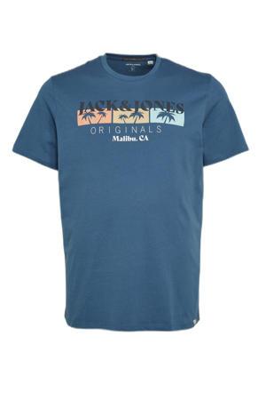 T-shirt Plus Size met logo blauw