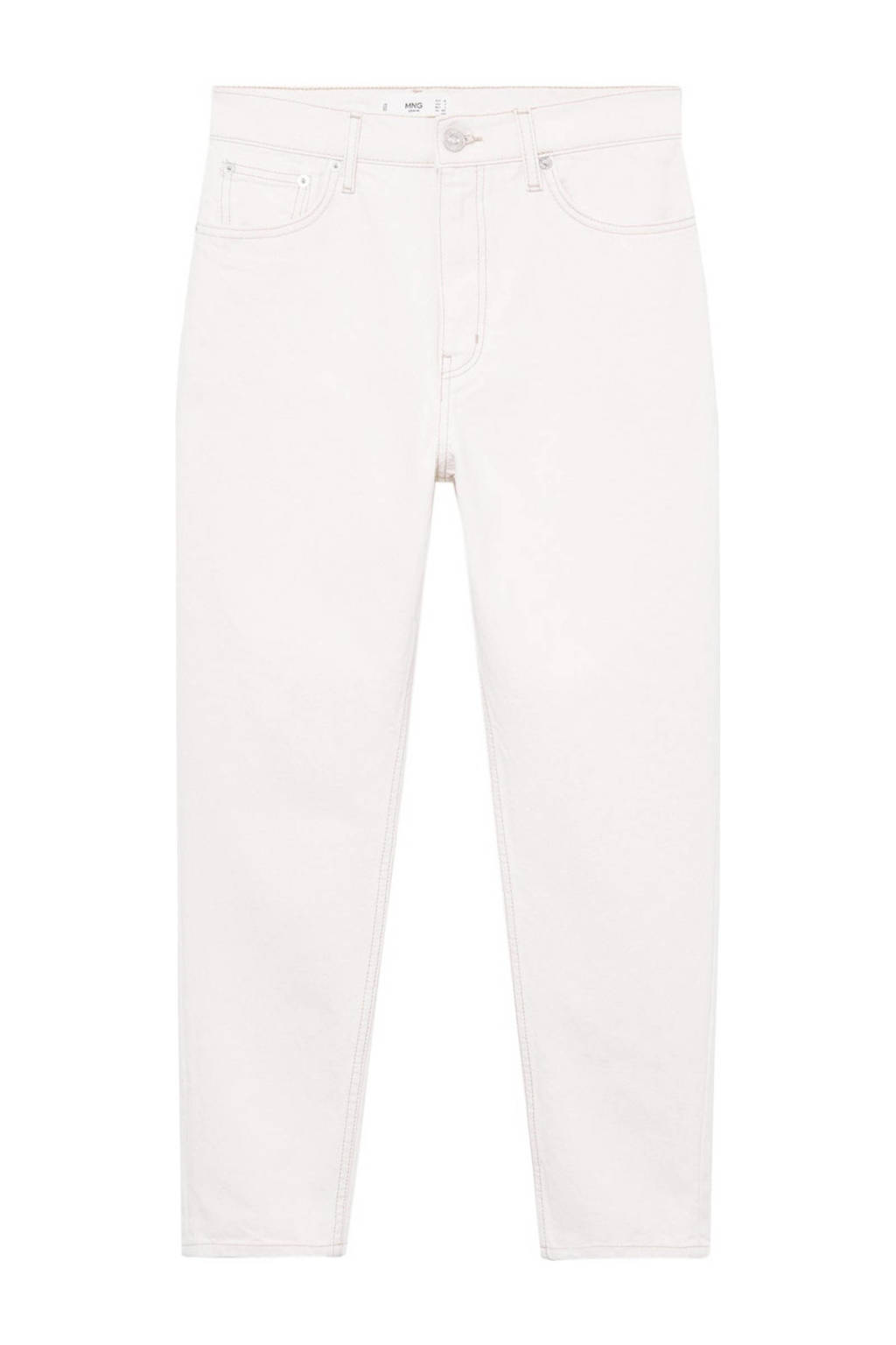 Mango high waist mom jeans ecru, Ecru