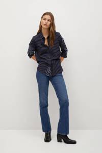 Mango blouse met zebraprint blauw, Blauw