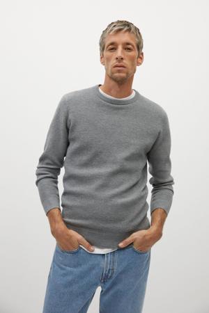 trui met textuur grijs