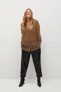 Violeta by Mango blouse middenbruin, Middenbruin