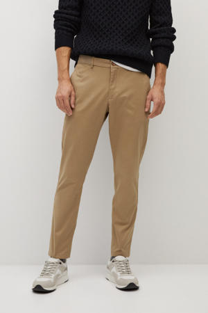 tapered fit pantalon beige