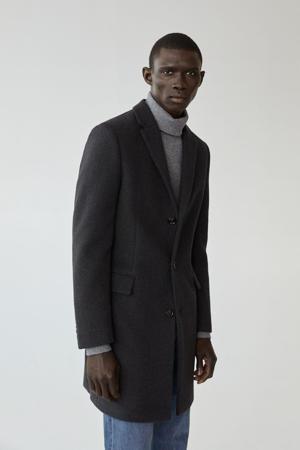 tussenjas met wol grijs