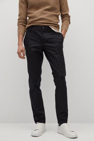 slim fit pantalon zwart