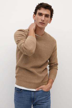 trui met textuur beige