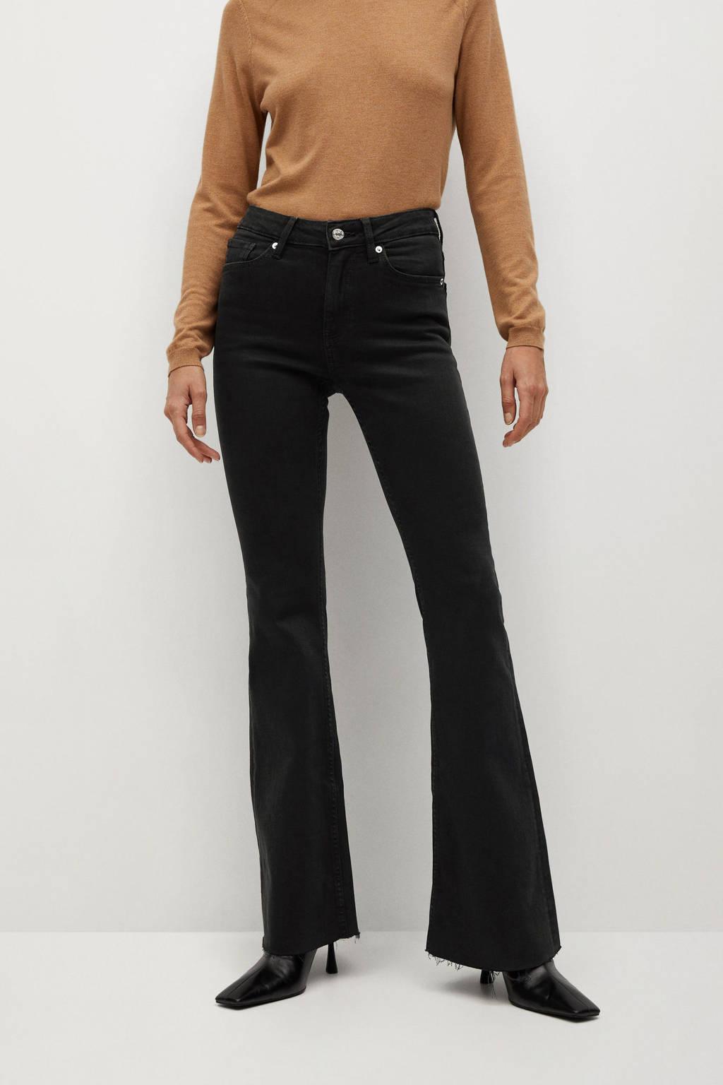Mango flared jeans black, Black