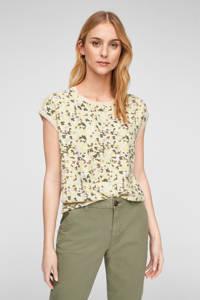 s.Oliver T-shirt met camouflageprint lichtroze/lichtgroen/bruin, Lichtroze/lichtgroen/bruin