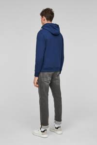 s.Oliver hoodie met printopdruk blauw, Blauw