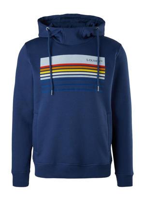 hoodie met printopdruk blauw