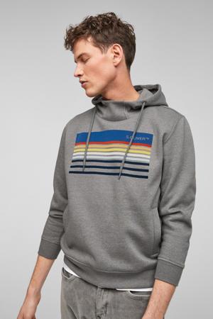hoodie met printopdruk antraciet