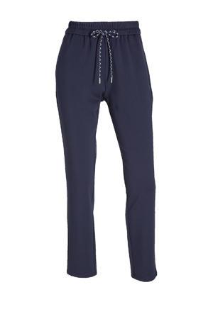 slim fit joggingbroek donkerblauw