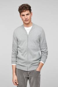s.Oliver vest met wol grijs, Grijs