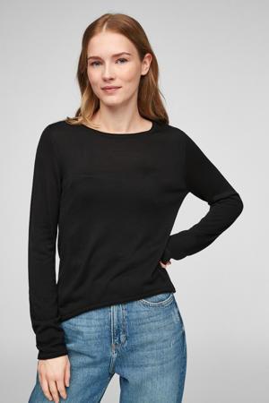 fijngebreide trui zwart