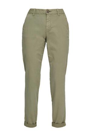 slim fit broek kaki/rood/wit