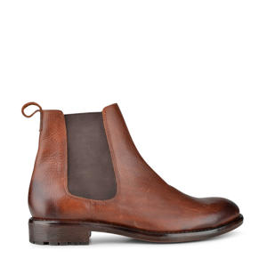 Zauu  leren chelsea boots cognac