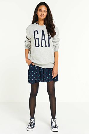 sweater met logo light heather grey