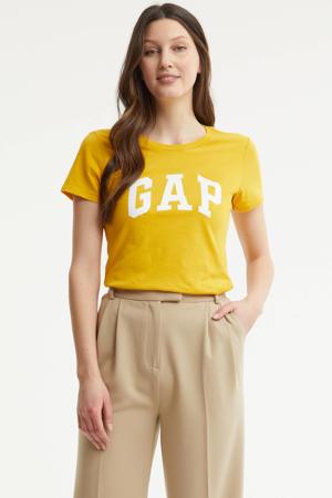 T-shirt met logo golden glow