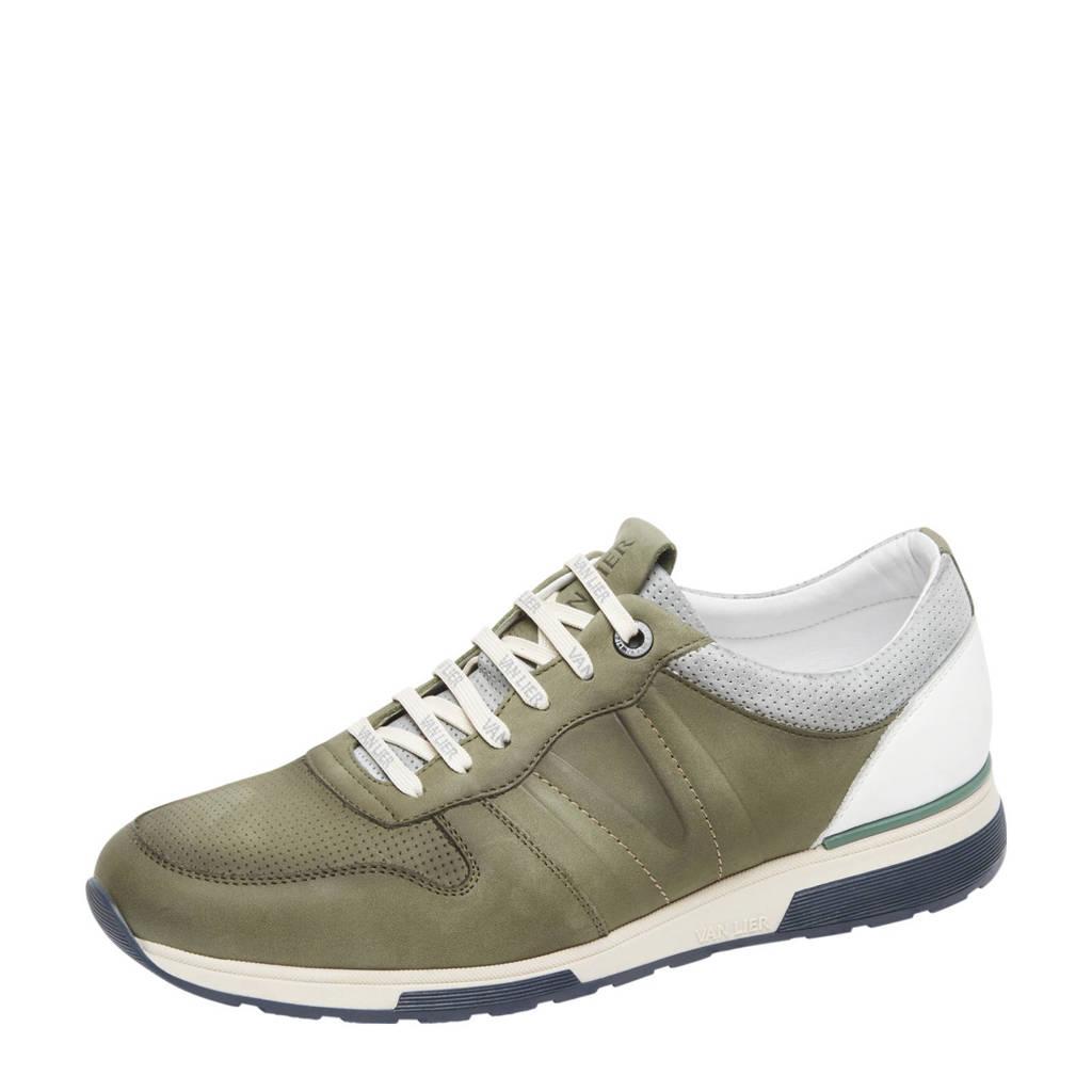 Van Lier Positano  nubuck sneakers groen, Groen