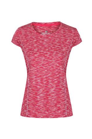 outdoor T-shirt donkerroze