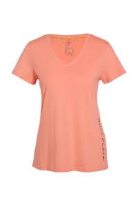 ONLY PLAY sport T-shirt zwart/oranje, Zwart/oranje